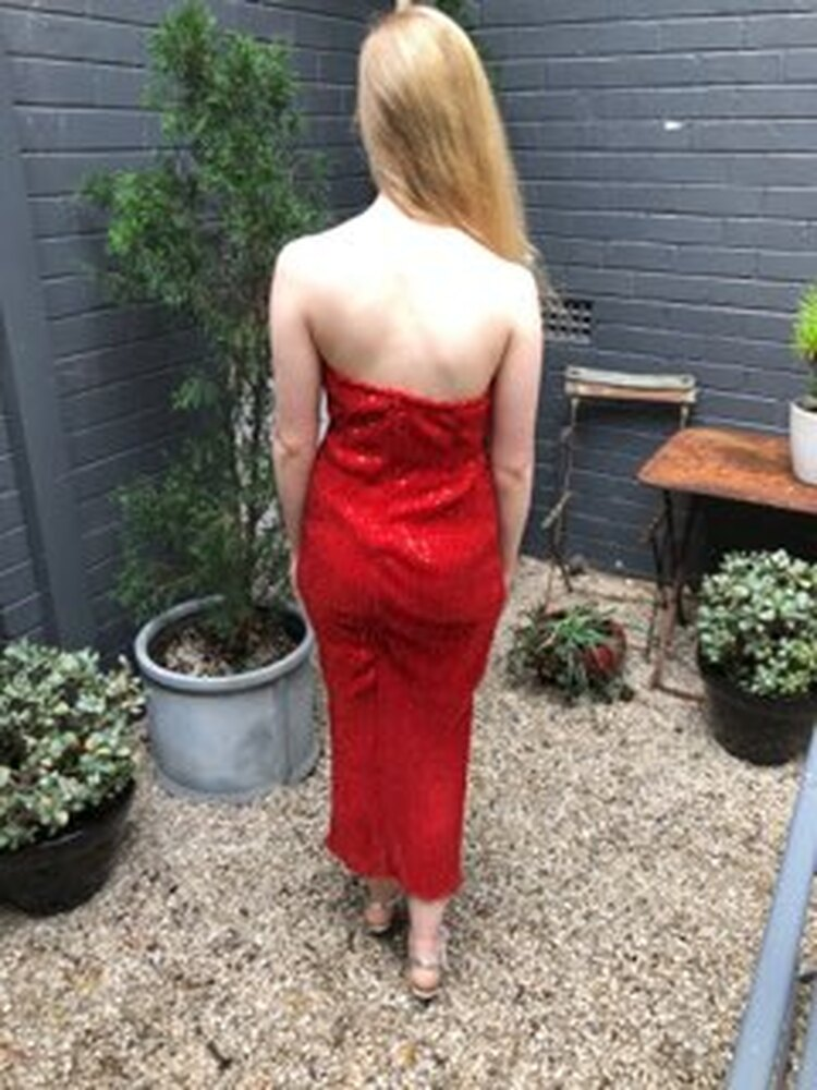 Abby Red Sequin dress in Small