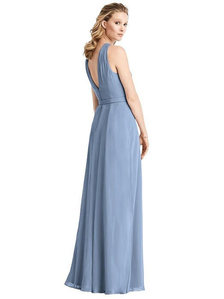 Ruffle Halter Chiffon Maxi Dress by Jenny Packham Dress JP1029 in 63 colors Jenny Packham Dress JP1029