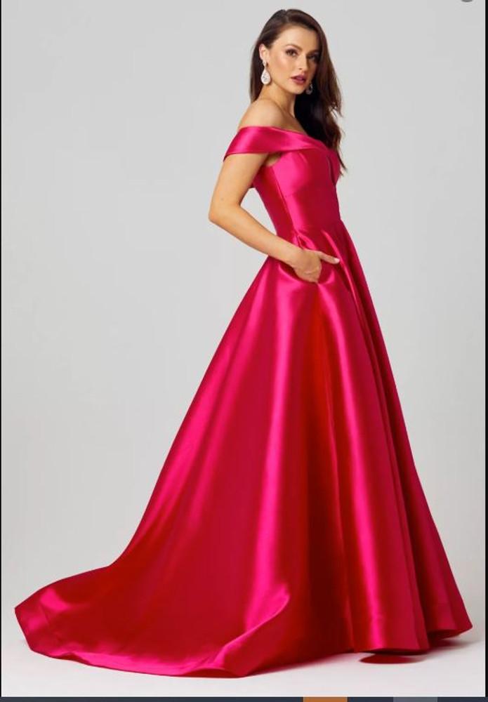 Beth A-Line Evening Dress by Tania Olsen Designs PO861 in Fuchsia