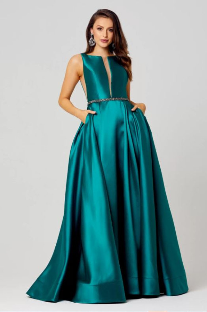 Avery Satin Evening Dress by Tania Olsen Designs PO829
