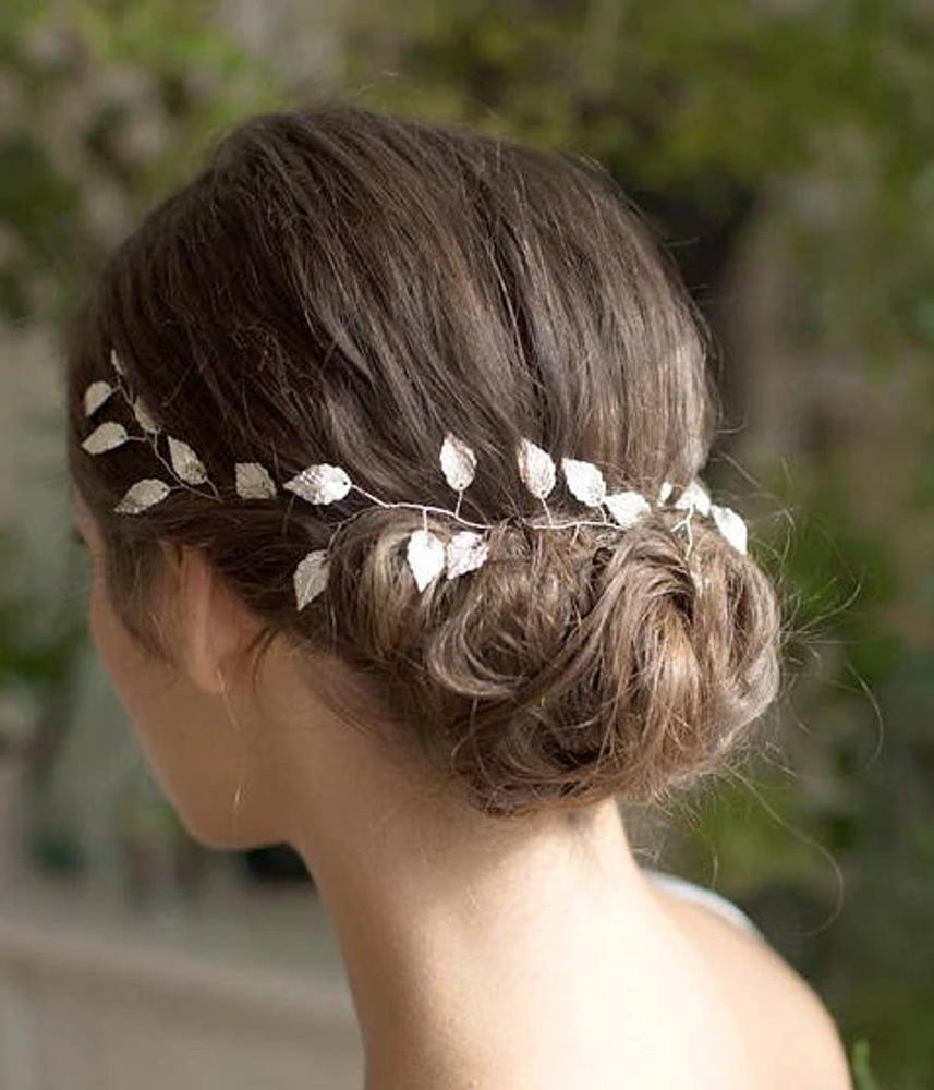 Wedding Headband Leaf Gold 34cm