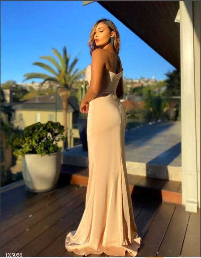 Kaia Dress JX5056 by Jadore Evening One Shoulder Sweetheart Draped Bodice Mermaid Formal Dress