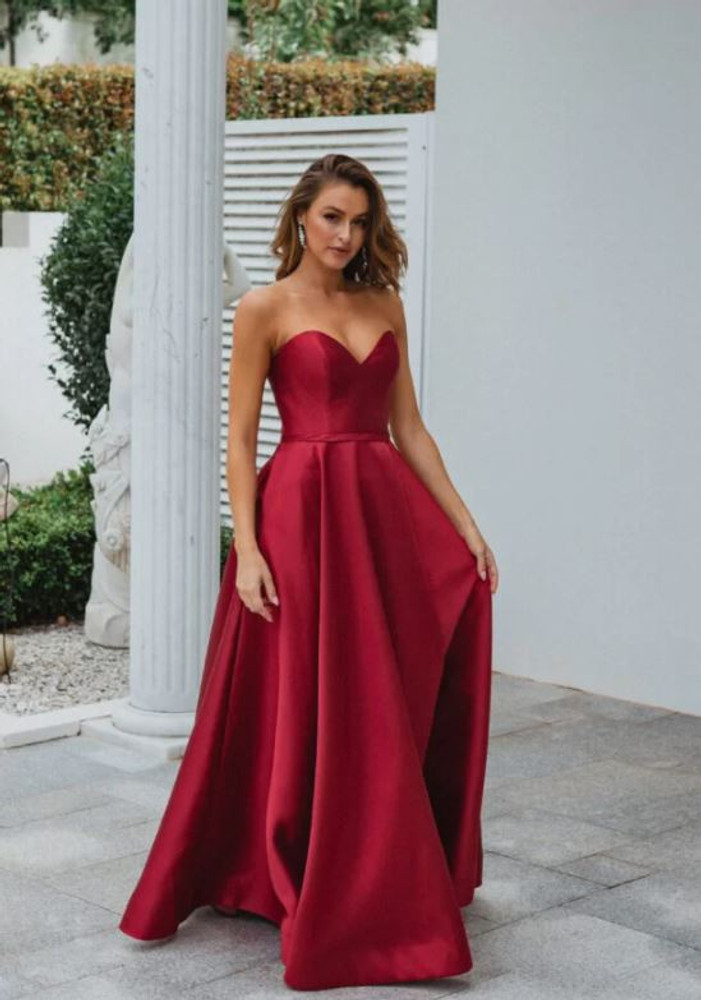 Medina Gown by Tania Olsen in Red