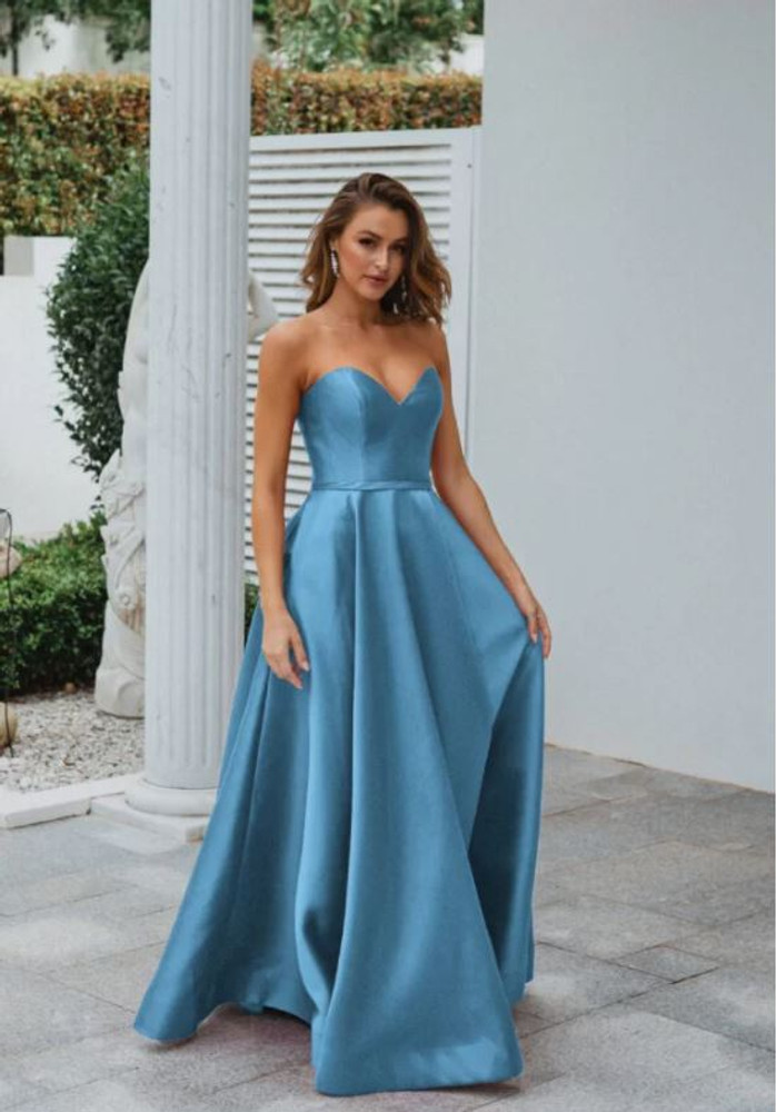 Medina Gown by Tania Olsen in Sky Blue