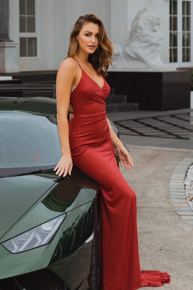 Milton Gown by Tania Olsen in Red