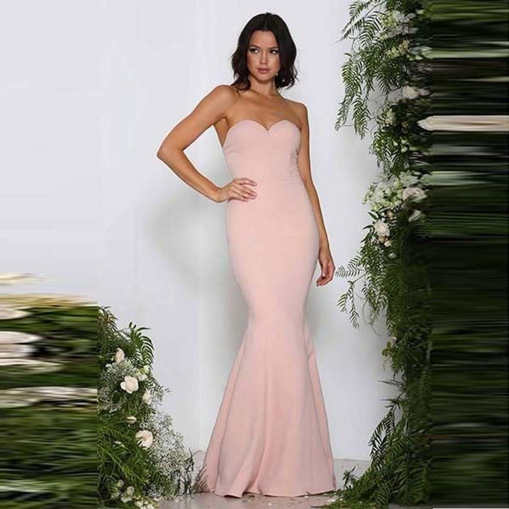 Mina Dress By Elle Zeitoune in Blush size 12