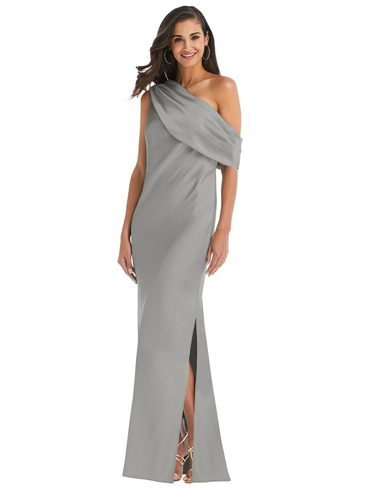 Draped One-Shoulder Convertible Maxi Slip Dress available in 22 colors