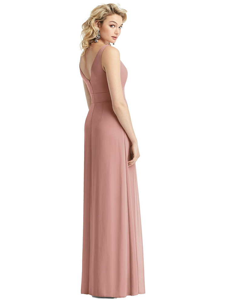 Sleeveless Pleated Skirt Maxi Dress with Pockets style 1519 by After Six in 63 colors in desert rose