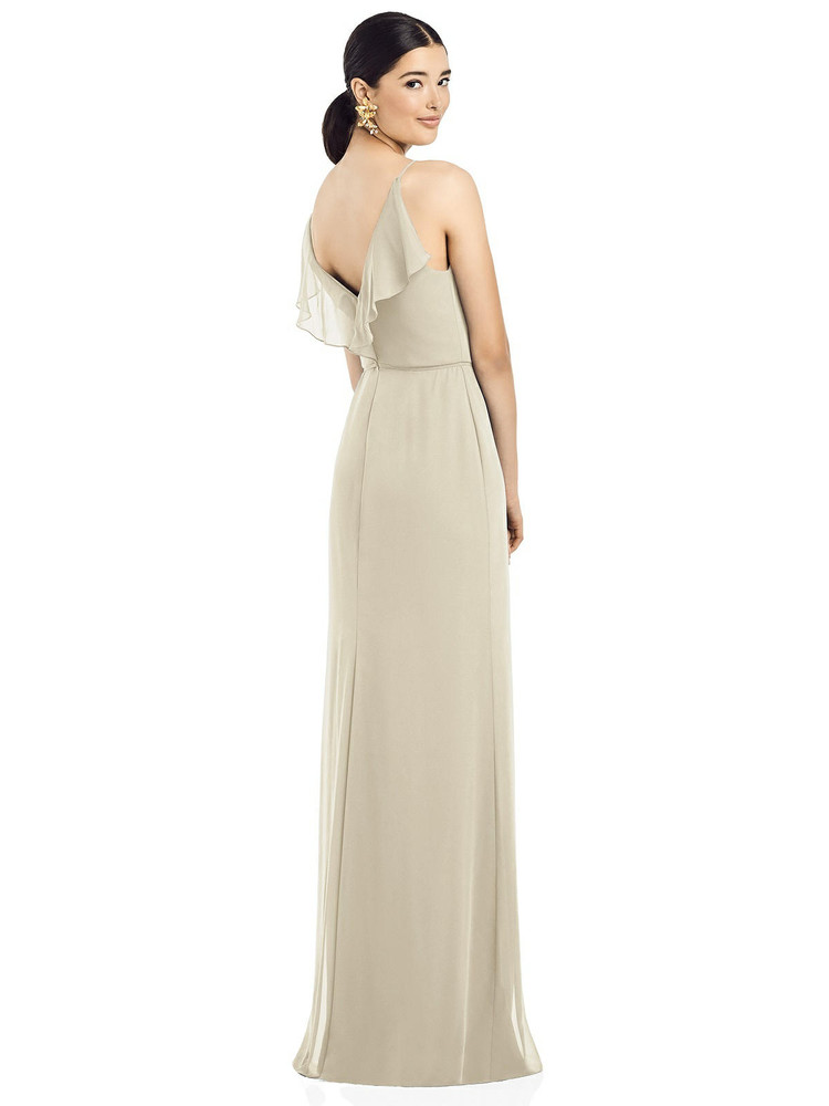 Ruffled Back Chiffon Dress with Jeweled Sash by  After Six 1524 in 64 colors