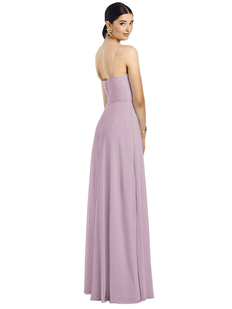 Spaghetti Strap Chiffon Maxi Dress with Jeweled Sash by  After Six 1525 in 64 colors