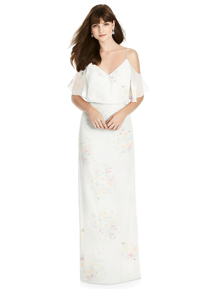 Ruffled Cold-Shoulder Blouson Maxi Dress by  After Six 6781 in 64 colors in spring fling