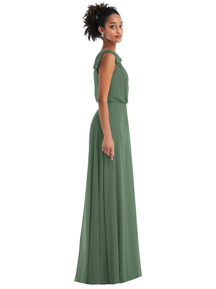 One-Shoulder Bow Blouson Bodice Maxi Dress by Thread Bridesmaid