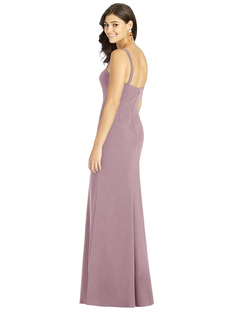 Flat Strap Stretch Mermaid Dress with Front Slit by Thread Bridesmaid Style TH002 in 6 colors