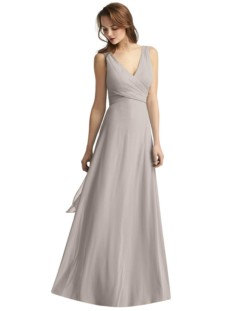 Sleeveless V-Neck Chiffon Wrap Dress by Thread Bridesmaid Style TH012 in 61 colors