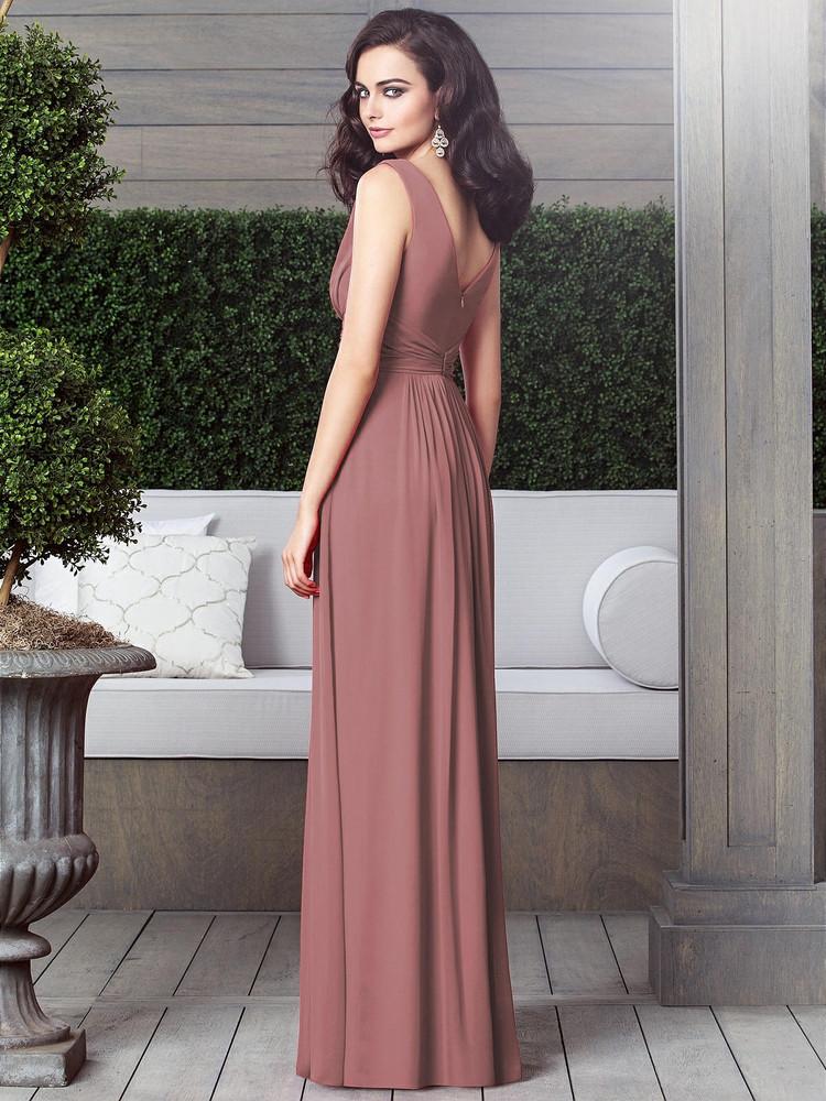 Draped V-Neck Shirred Chiffon Maxi Dress - Ari by Thread Bridesmaid Style TH031 in 61 colors