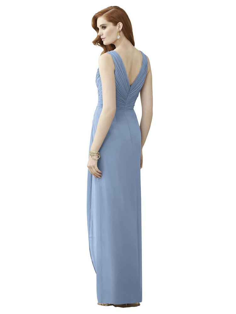 Sleeveless Draped Faux Wrap Maxi Dress - Dahlia Thread Bridesmaid Style TH030