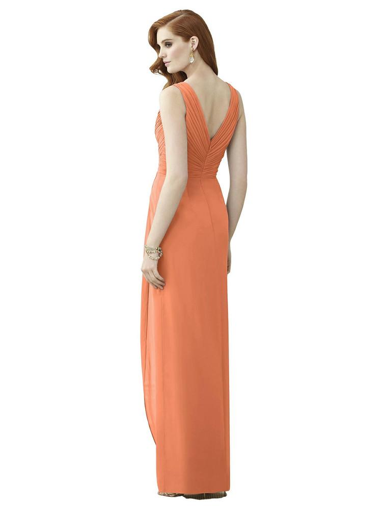 Sleeveless Draped Faux Wrap Maxi Dress - Dahlia Thread Bridesmaid Style TH030 in 64 colors