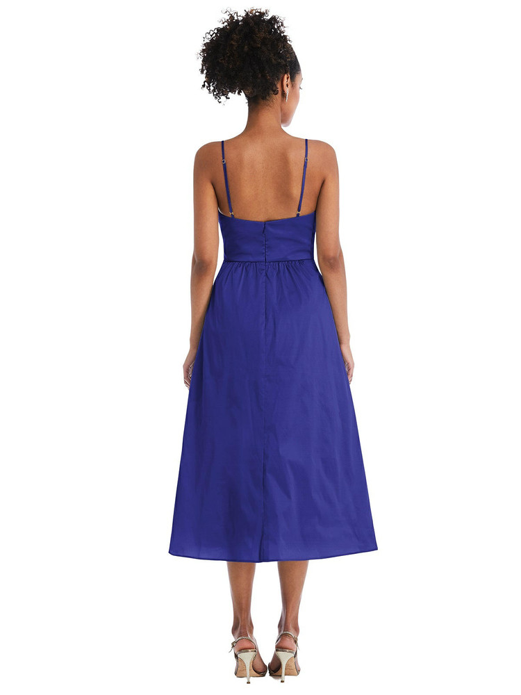 Bow-Tie Cutout Bodice Midi Dress with Pockets by Thread Bridesmaid Style TH070 in 28 colors