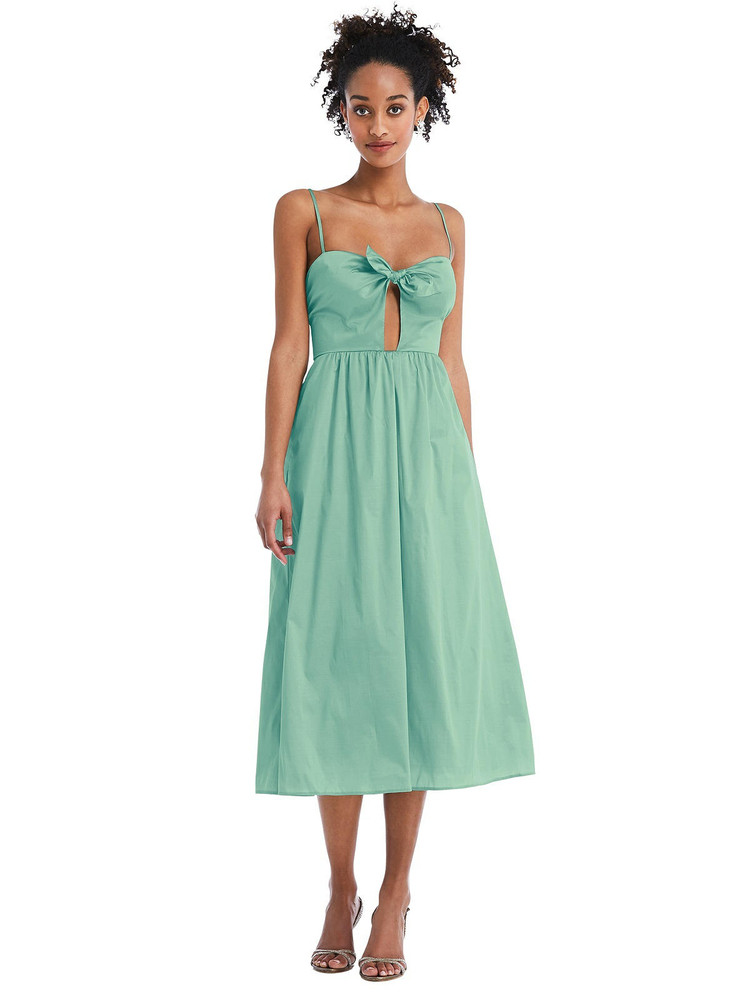 Bow-Tie Cutout Bodice Midi Dress with Pockets by Thread Bridesmaid Style TH070 in 28 colors fresh