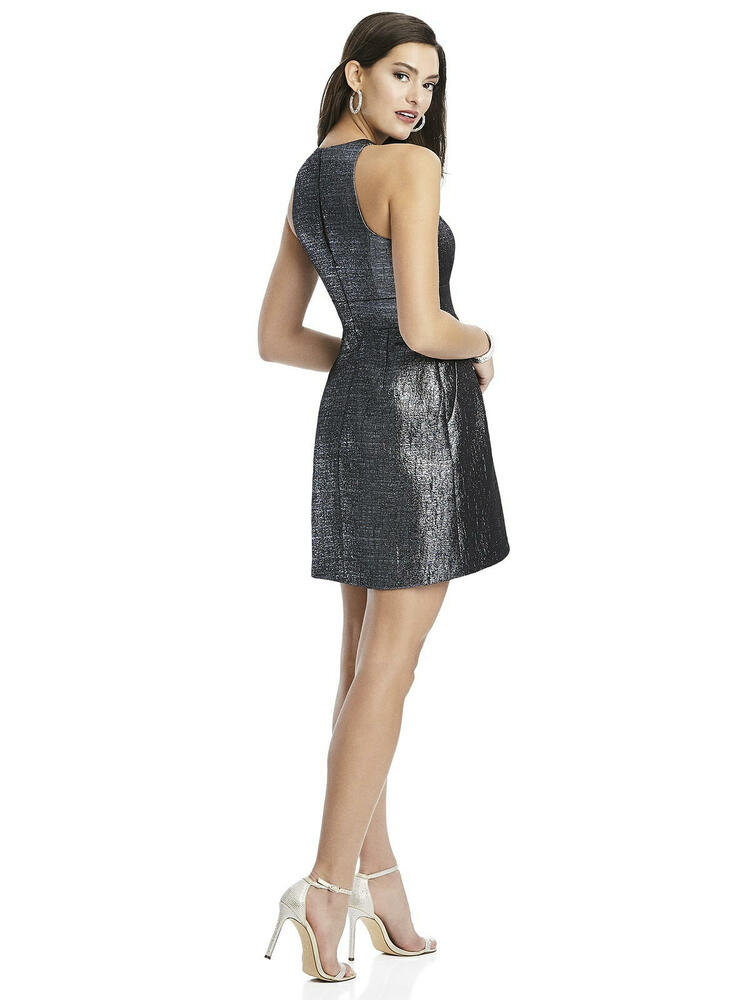 Metallic Halter Cocktail Dress with Pockets by Thread Bridesmaid Style TH023 in 4 colors