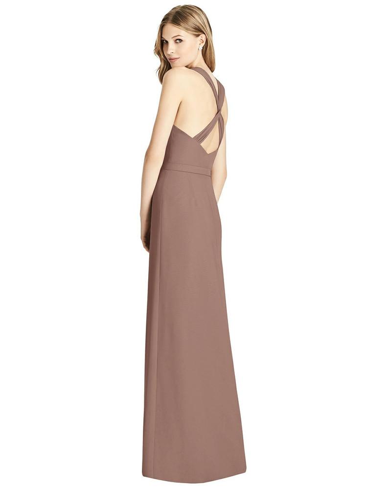 Sleeveless Jeweled Belt Twist Strap Dress by Jenny Packham Dress JP1002 in 33 colors