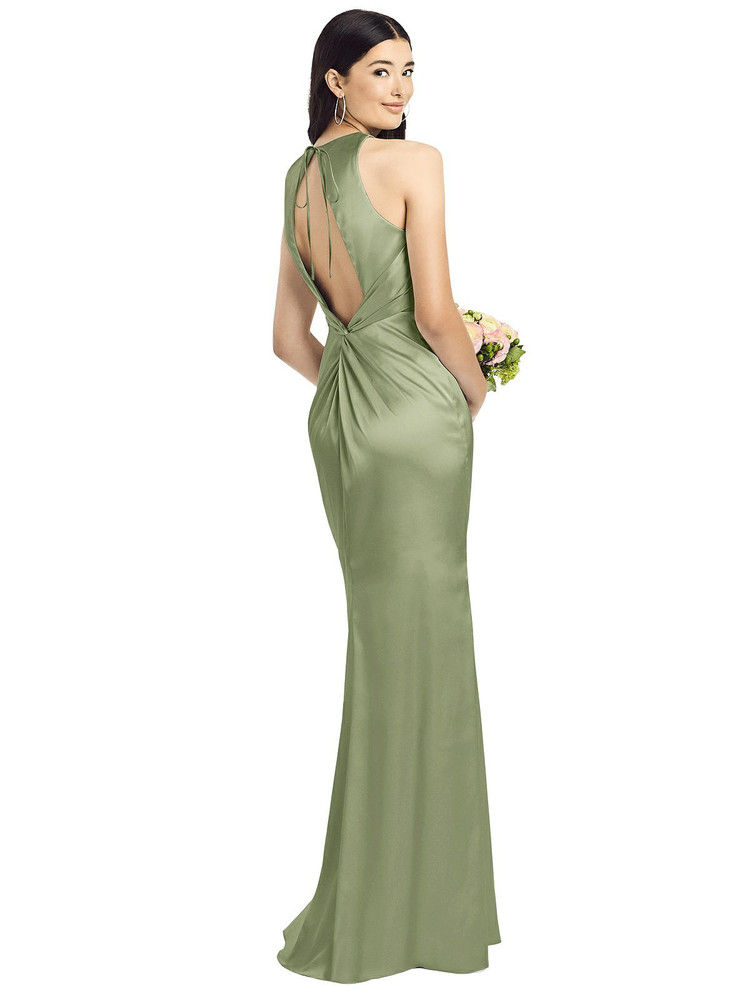 Sleeveless Open Twist-Back Maxi Dress By Social Bridesmaid 8200 in 37 colors kiwi