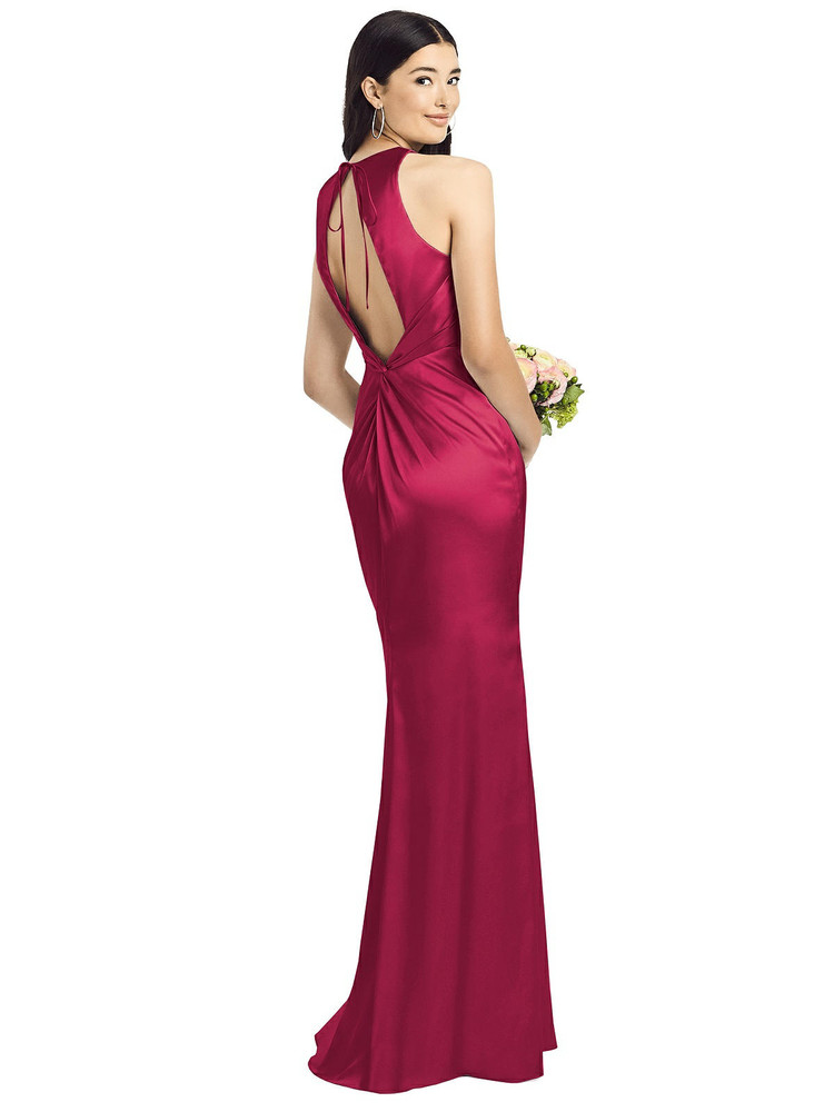 Sleeveless Open Twist-Back Maxi Dress By Social Bridesmaid 8200 in 37 colors