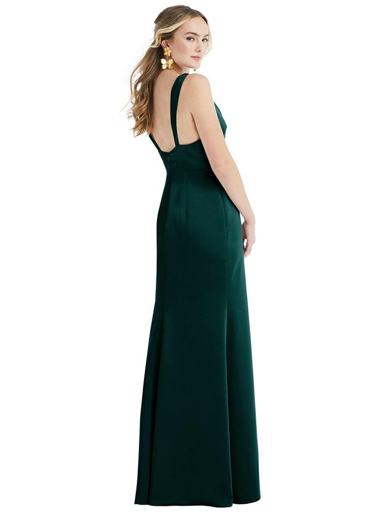 Twist Strap Maxi Slip Dress with Front Slit - Neve by Lovely LB027