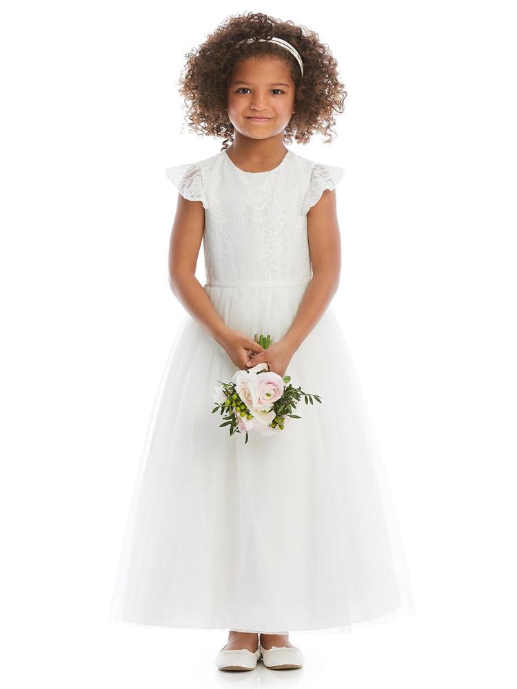Dessy Flower Girl Dress FL4064 in Ivory
