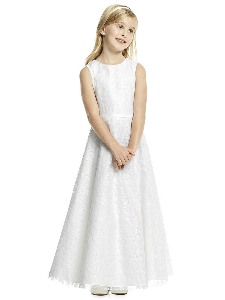 Dessy Flower Girl Dress FL4056  in Ivory