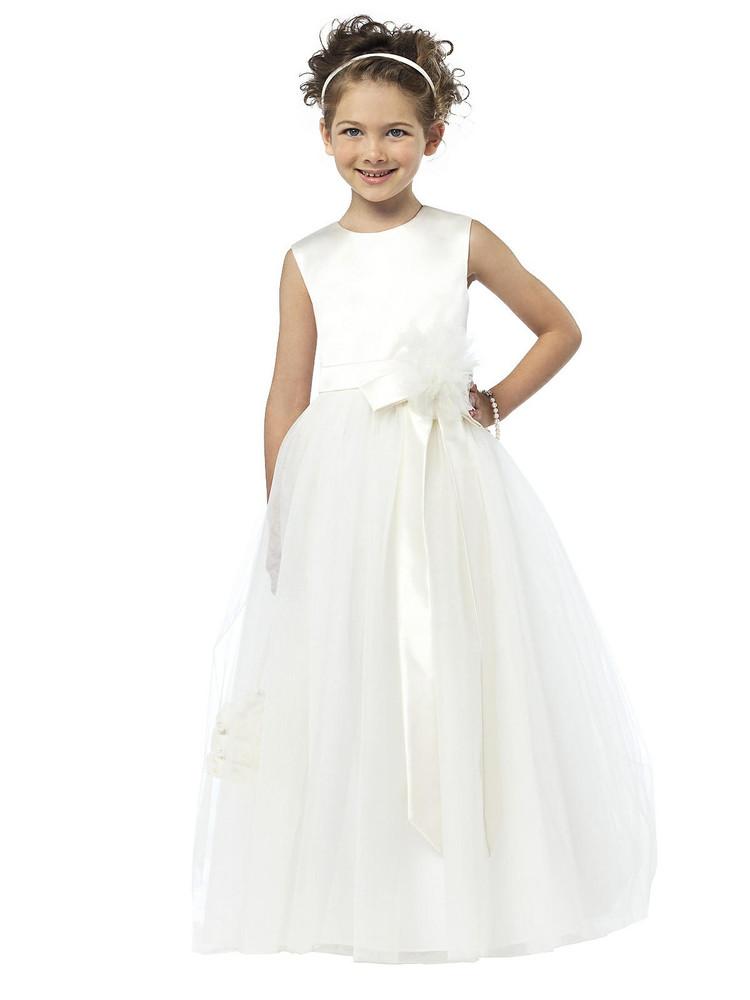 Dessy Flower Girl Dress FL4030  in Ivory