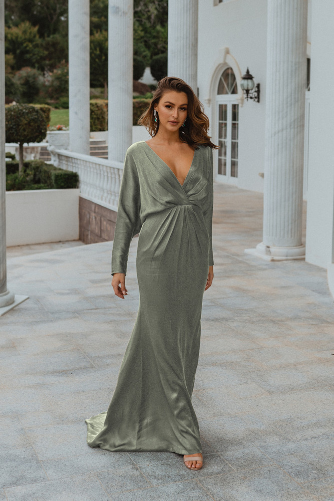 Nelson TO876 Bridesmaids Dress by Tania Olsen in Sage