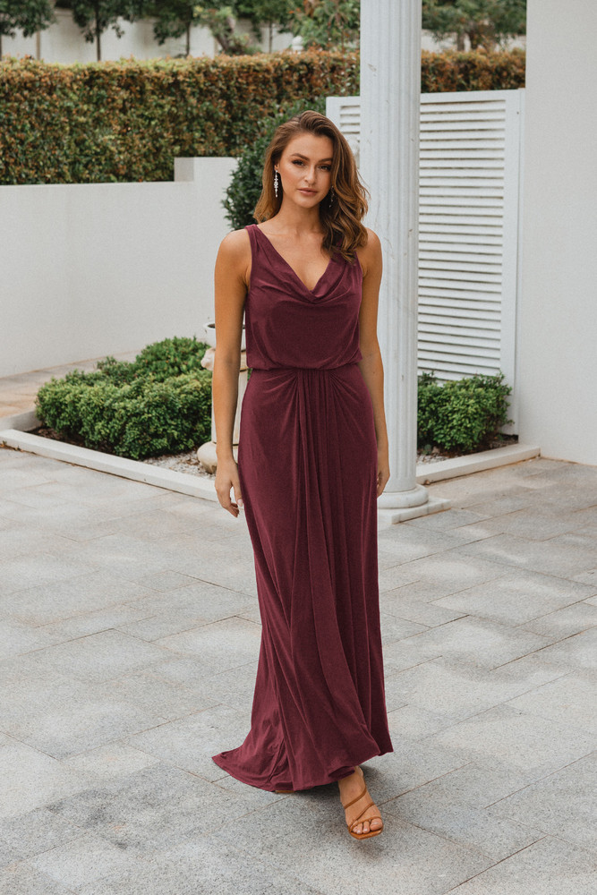Novara TO871 Bridesmaids Dress by Tania Olsen in Wine