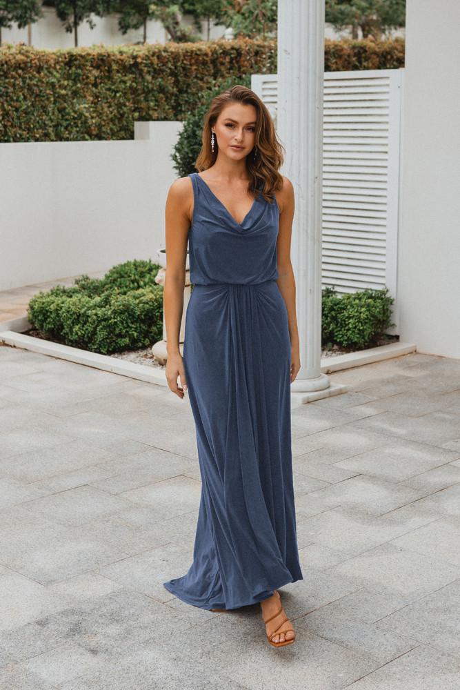 Novara TO871 Bridesmaids Dress by Tania Olsen in Dusty Blue