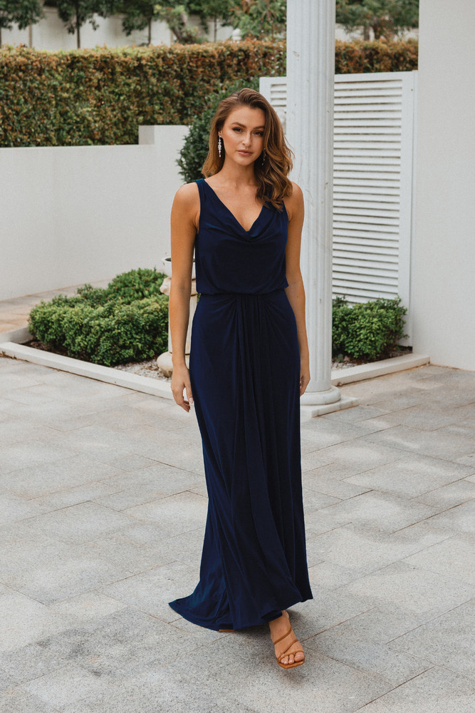 Novara TO871 Bridesmaids Dress by Tania Olsen in Navy