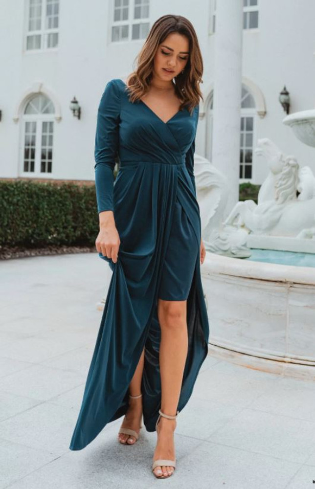 Nancy TO870 Bridesmaids Dress by Tania Olsen in Teal