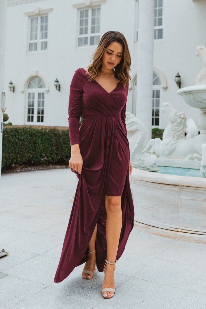 Nancy TO870 Bridesmaids Dress by Tania Olsen in Wine