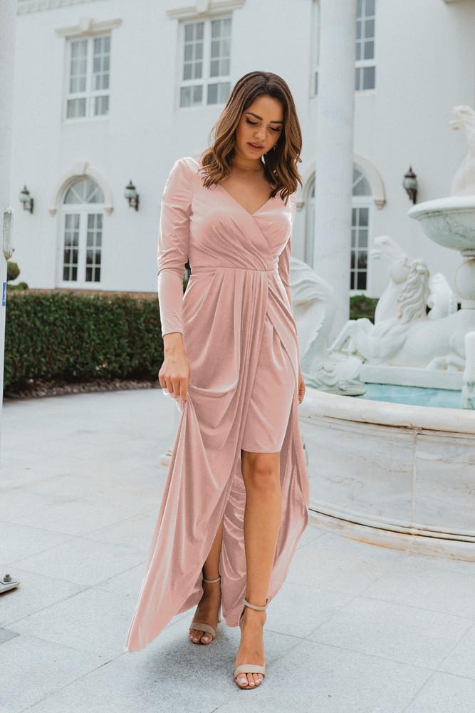 Nancy TO870 Bridesmaids Dress by Tania Olsen in Blush