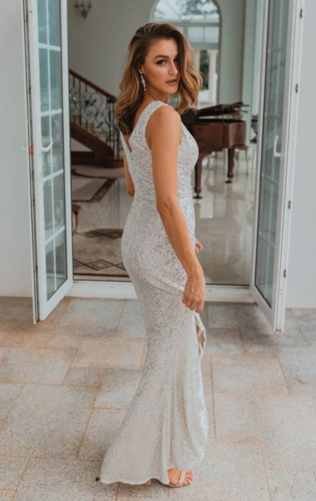 Alexandria TO857 Bridesmaids Dress by Tania Olsen in Silver