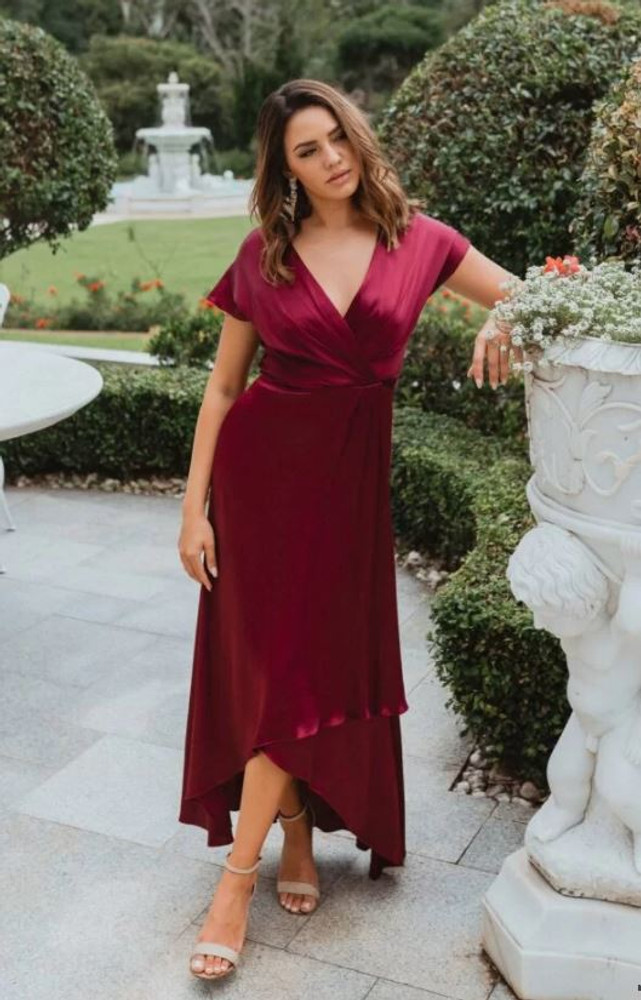 Napier TO868 Bridesmaids Dress by Tania Olsen in Wine
