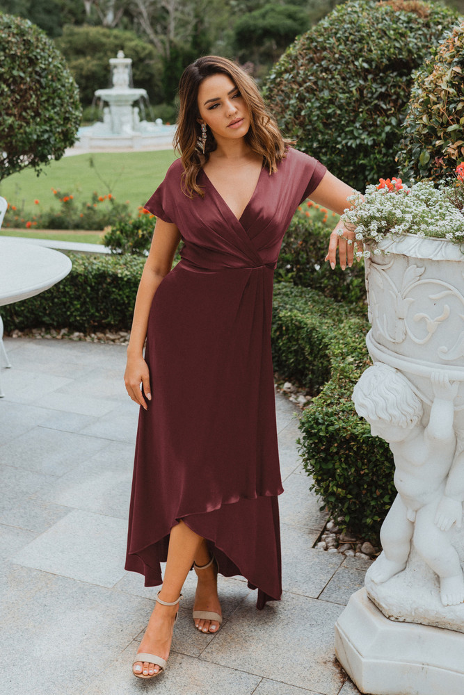 Napier TO868 Bridesmaids Dress by Tania Olsen in Plum