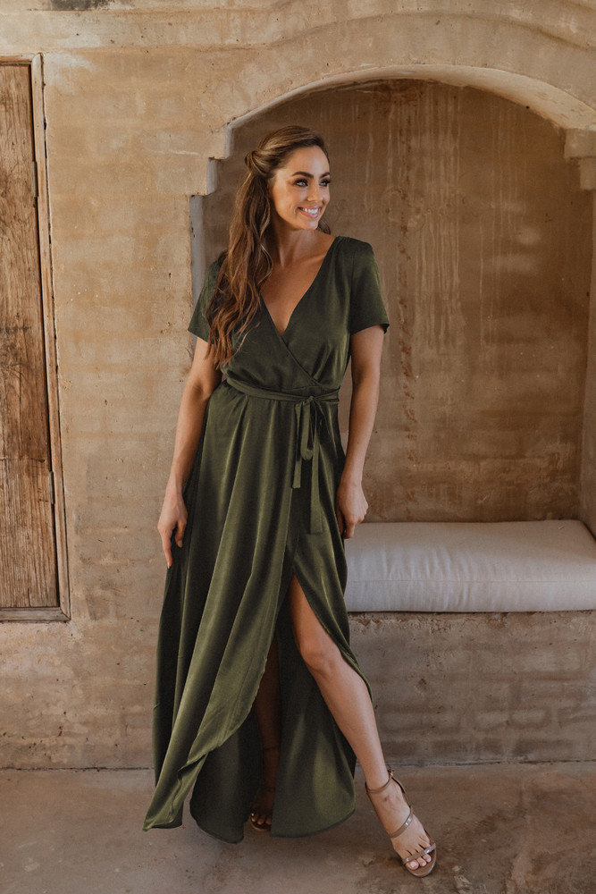 Chester TO866 Bridesmaids Dress by Tania Olsen in Olive