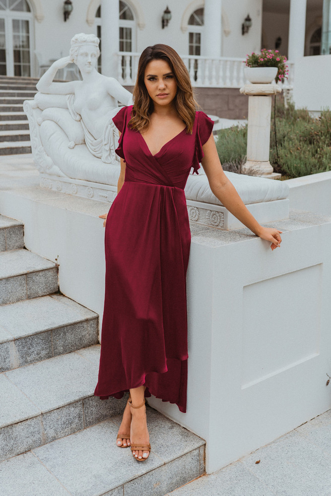 Brighton TO865 Bridesmaids Dress by Tania Olsen in Wine
