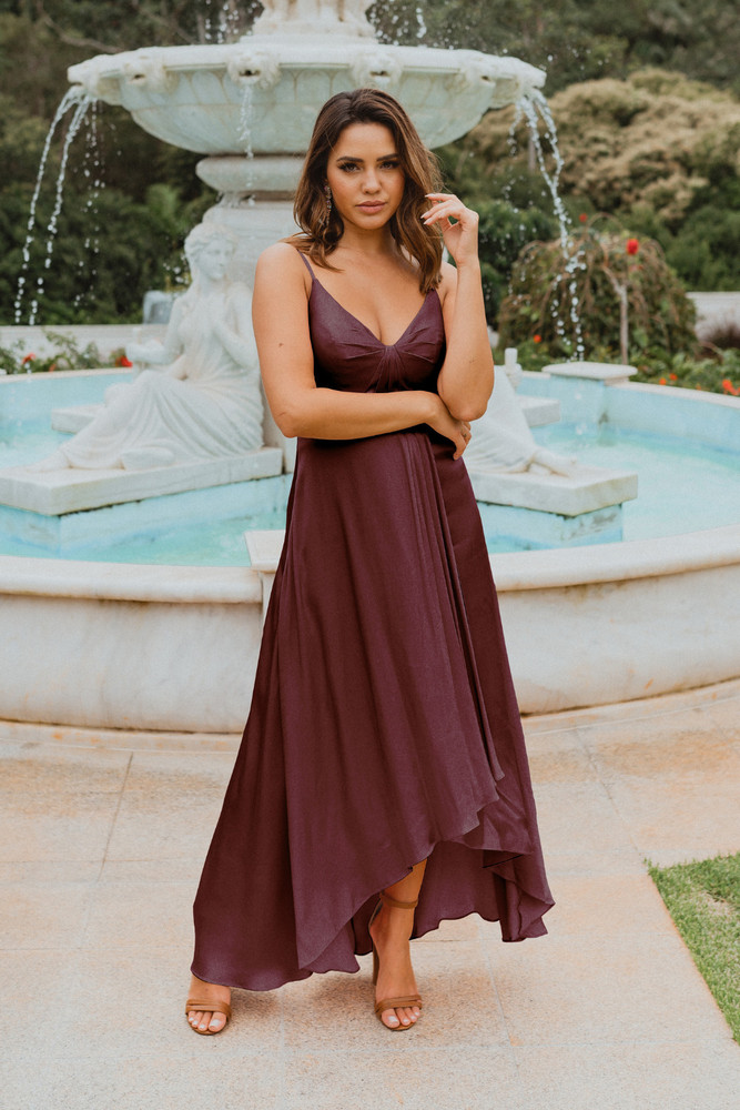 Kyoto TO869 Bridesmaids Dress by Tania Olsen in Plum