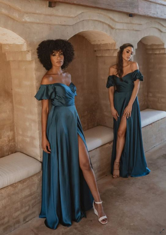 Lagos TO873 Bridesmaids Dress by Tania Olsen in Peacock