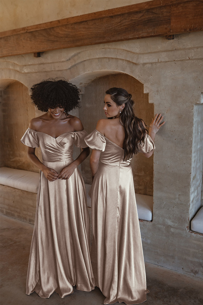 Lagos TO873 Bridesmaids Dress by Tania Olsen in Champagne