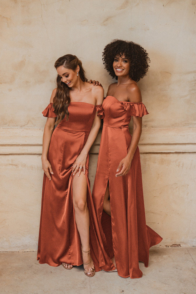 Osaka TO874 Bridesmaids Dress by Tania Olsen in Terracotta