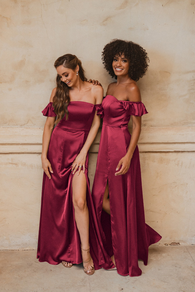 Osaka TO874 Bridesmaids Dress by Tania Olsen in Wine