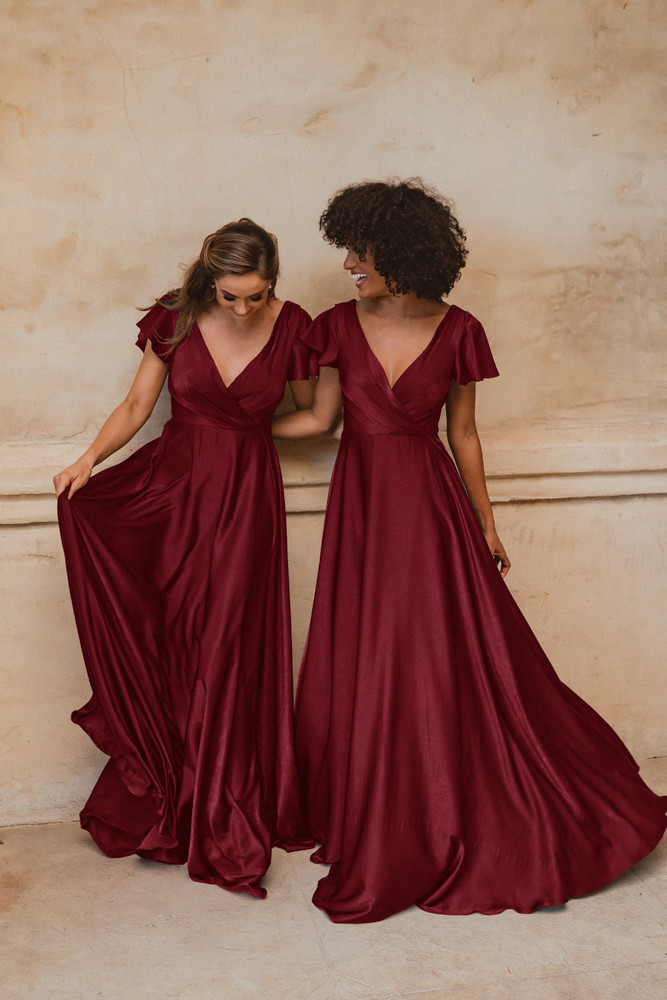 Auckland TO872 Bridesmaids Dress by Tania Olsen in Wine