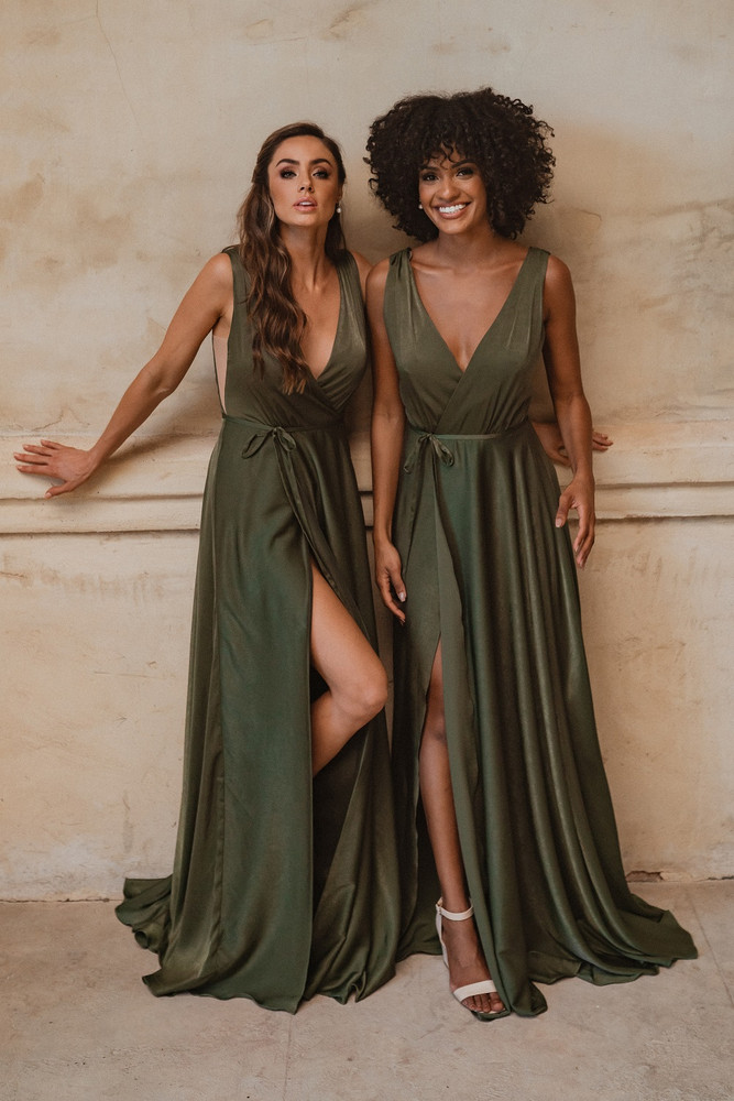 Napa TO861 Bridesmaids Dress by Tania Olsen in Olive